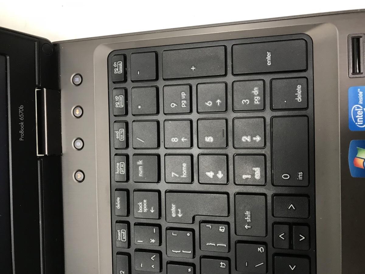 第3世代intelCoreで高速!テンキー☆DVDマルチ搭載 HP Probook 6570b/Core i5/8GB/320GB HDD/Windows10/LibreOffice/C512_画像5