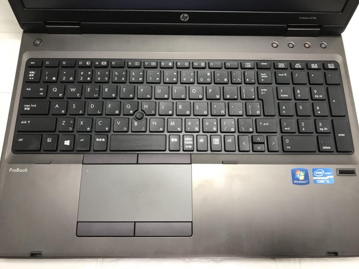 第3世代intelCoreで高速!テンキー☆DVDマルチ搭載 HP Probook 6570b/Core i5/8GB/320GB HDD/Windows10/LibreOffice/C512_画像6