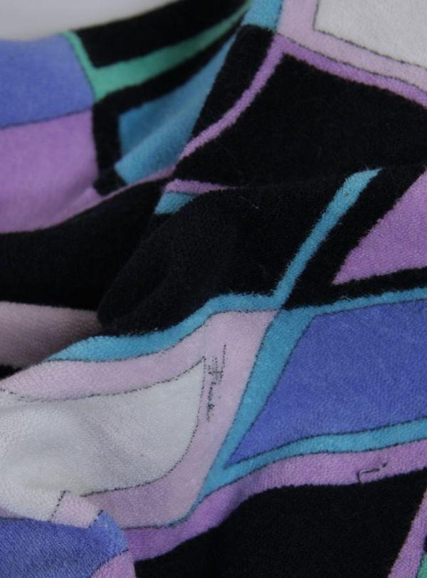 ★B270☆EMILIO PUCCI パイル地 ホルターネック ワンピース プッチ柄 ピンク系 バカンス 水着の上からもかわいい♪_画像4