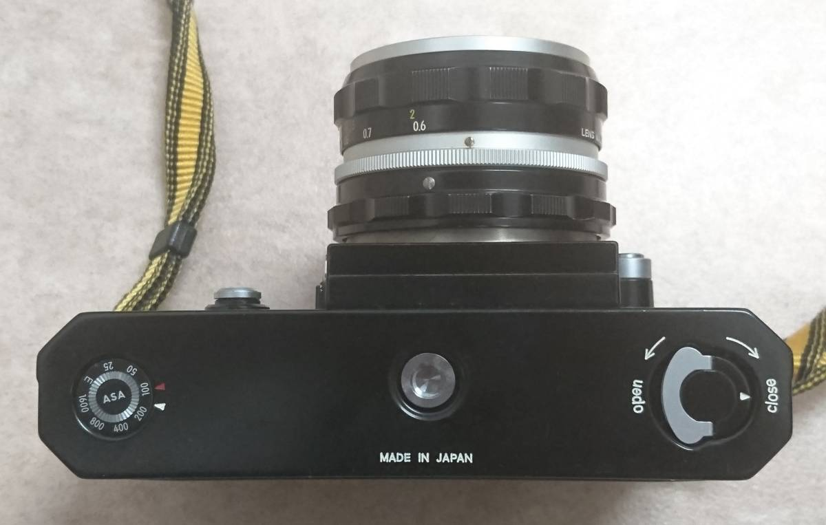 ◇ Nikon F Brack ニコンFブラックボディ NIKKOR-H Auto 1:2 f=50㎜ ◇_画像6
