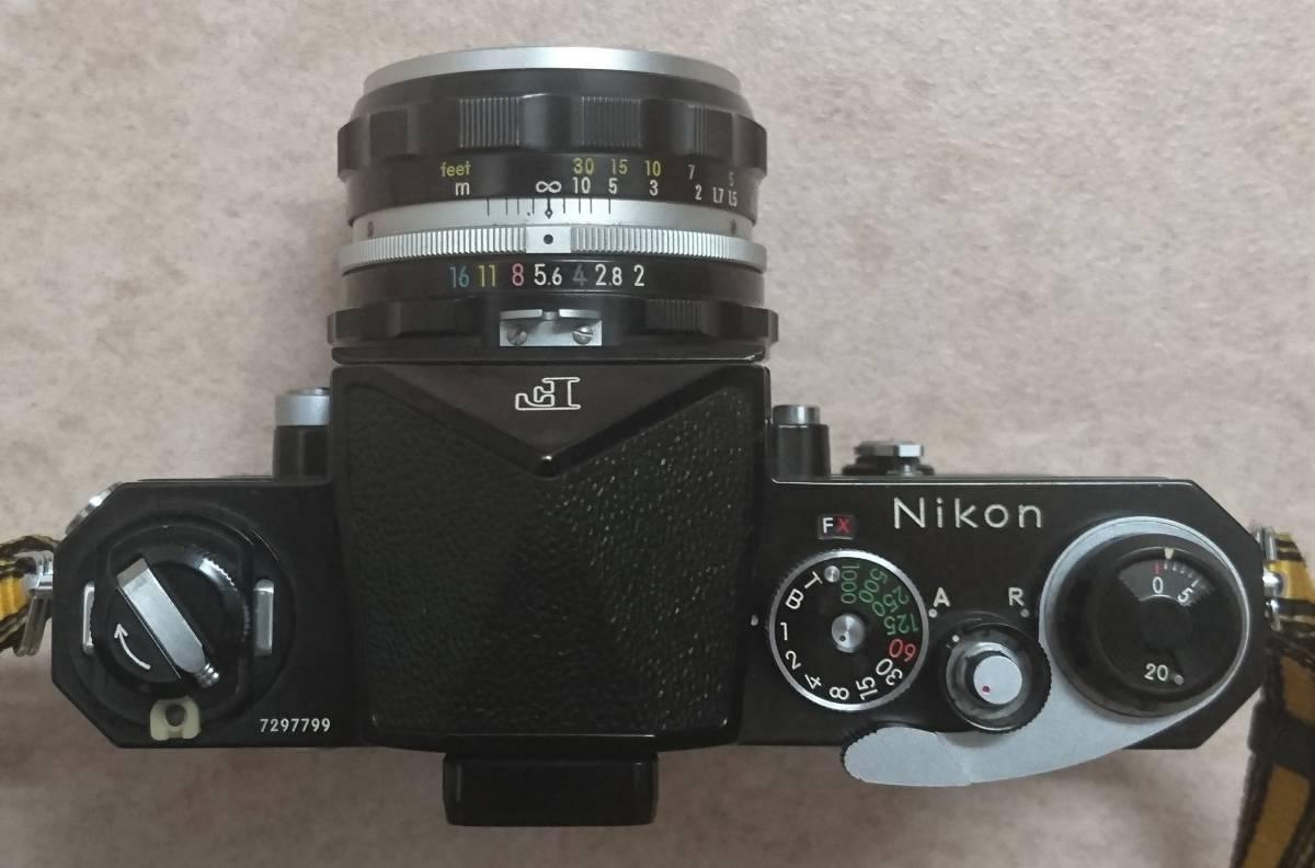 ◇ Nikon F Brack ニコンFブラックボディ NIKKOR-H Auto 1:2 f=50㎜ ◇_画像4