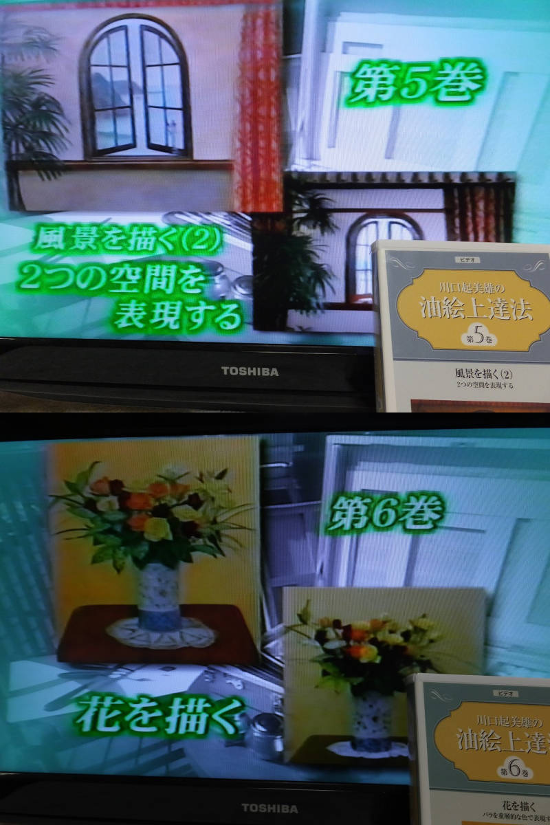 VHSビデオ 川口起美雄の油絵上達法 全10巻 欠巻あり _画像9