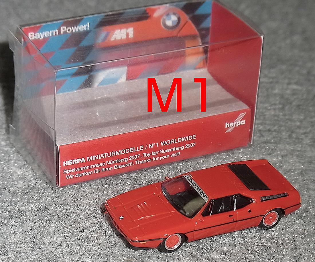 1//87 Herpa BMW M1 Herpa IAA 2007
