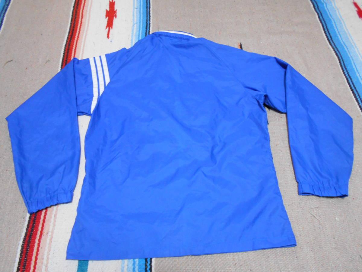 1970年代製 アディダスADIDAS ウィンドブレイカー 青ブルー ビンテージ オリジナル MADE IN JAPAN VINTAGE オールドスクール昭和レトロ_画像5