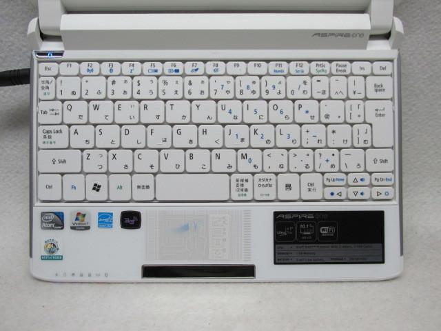 1円~☆Acer Aspire one 532h-CBW123G Win10 2G 250G Office2016 無線LAN_画像2