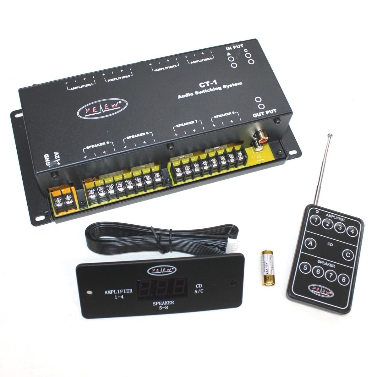 ★送料込★新品★4スピーカー/4アンプ 切り替えスイッチングユニット オーディオスイッチングシステム CT-1