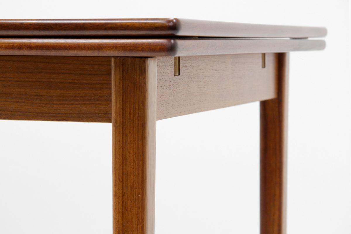エクステンション ダイニングテーブル チーク材 北欧ヴィンテージ家具_画像4