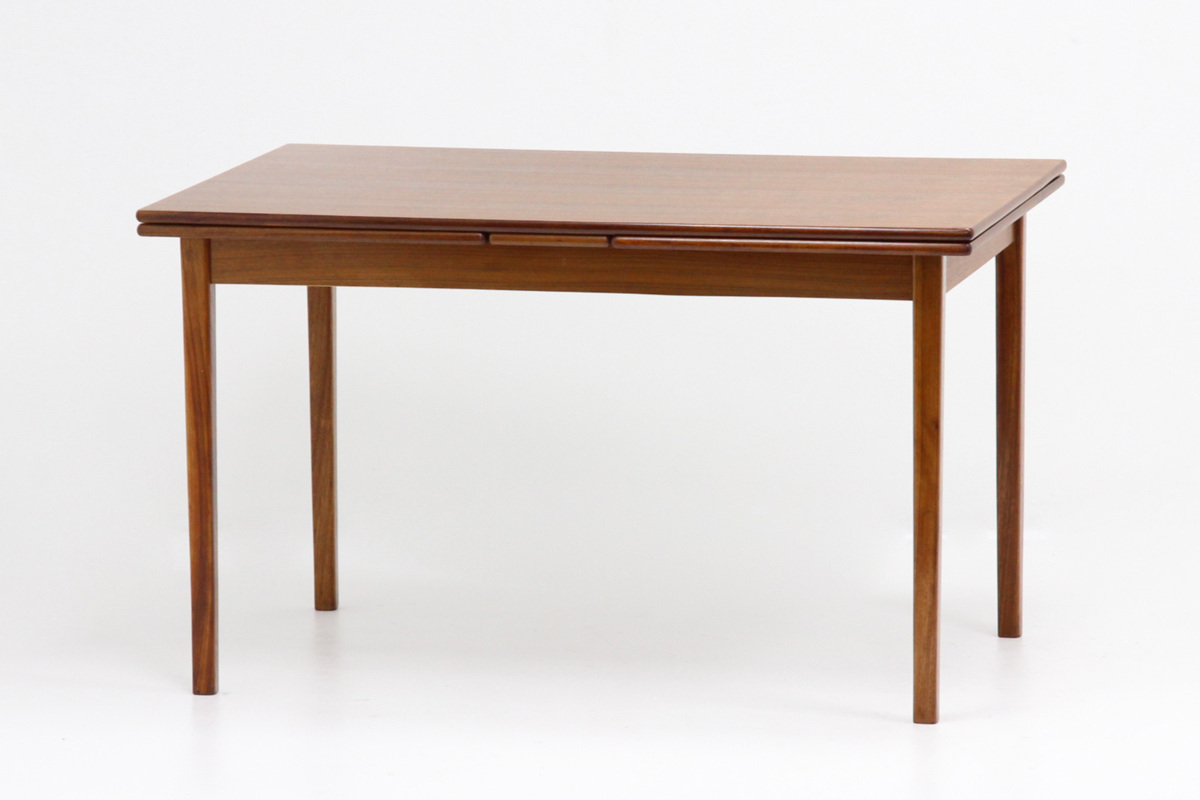 エクステンション ダイニングテーブル チーク材 北欧ヴィンテージ家具_画像1