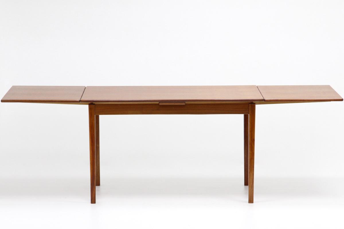 エクステンション ダイニングテーブル チーク材 北欧ヴィンテージ家具_画像2