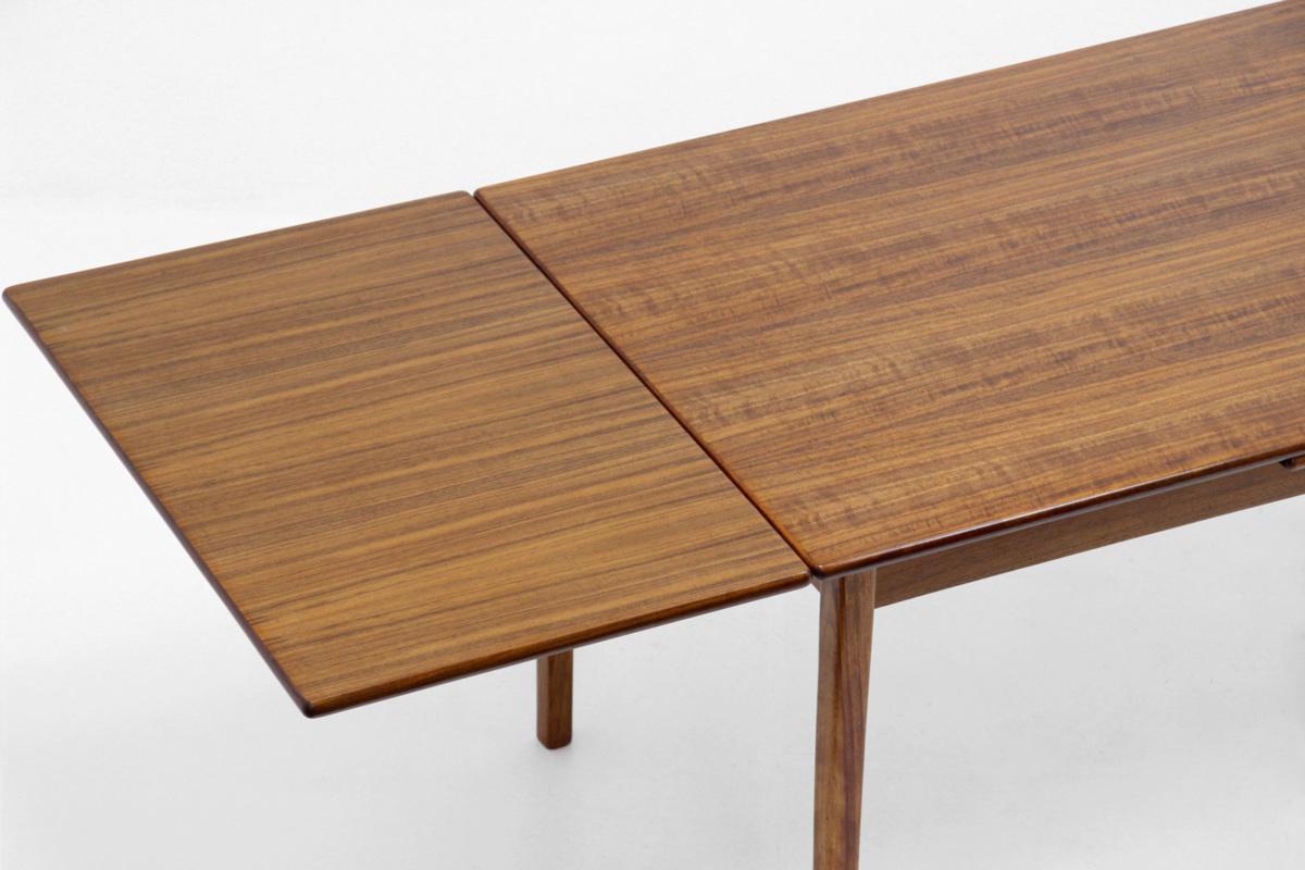 エクステンション ダイニングテーブル チーク材 北欧ヴィンテージ家具_画像3