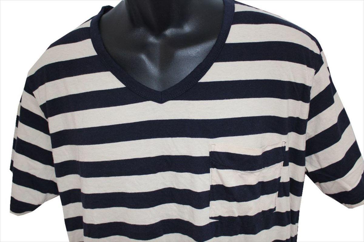 ゼインローブ ZANEROBE メンズ半袖Tシャツ ボーダー柄 Lサイズ 新品_画像2