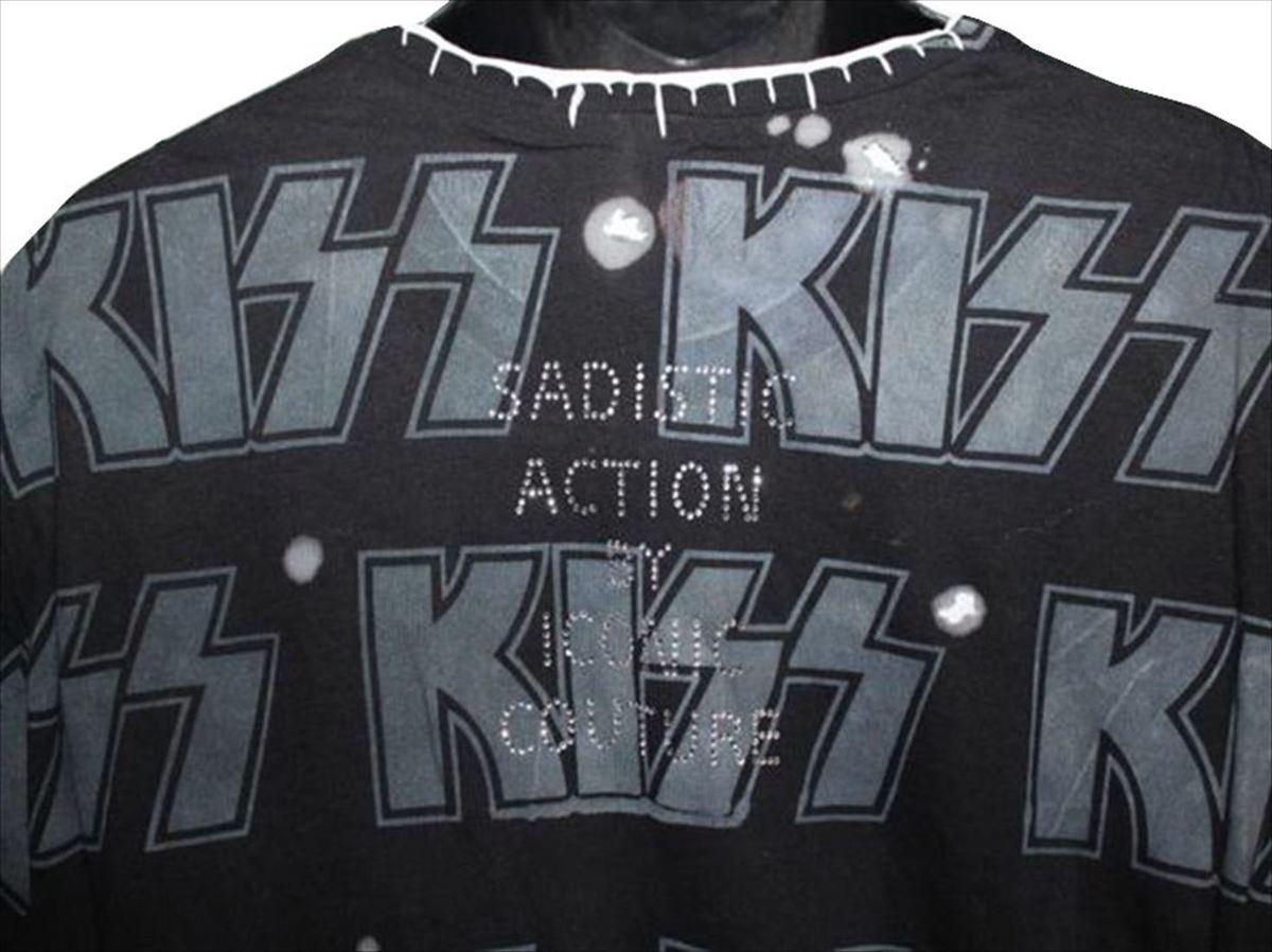 サディスティックアクション SADISTIC ACTION アイコニック メンズ半袖Tシャツ Lサイズ KISS 新品_画像3