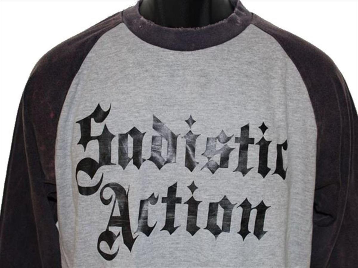 サディスティックアクション SADISTIC ACTION メンズ長袖Tシャツ Mサイズ NO21 新品_画像2