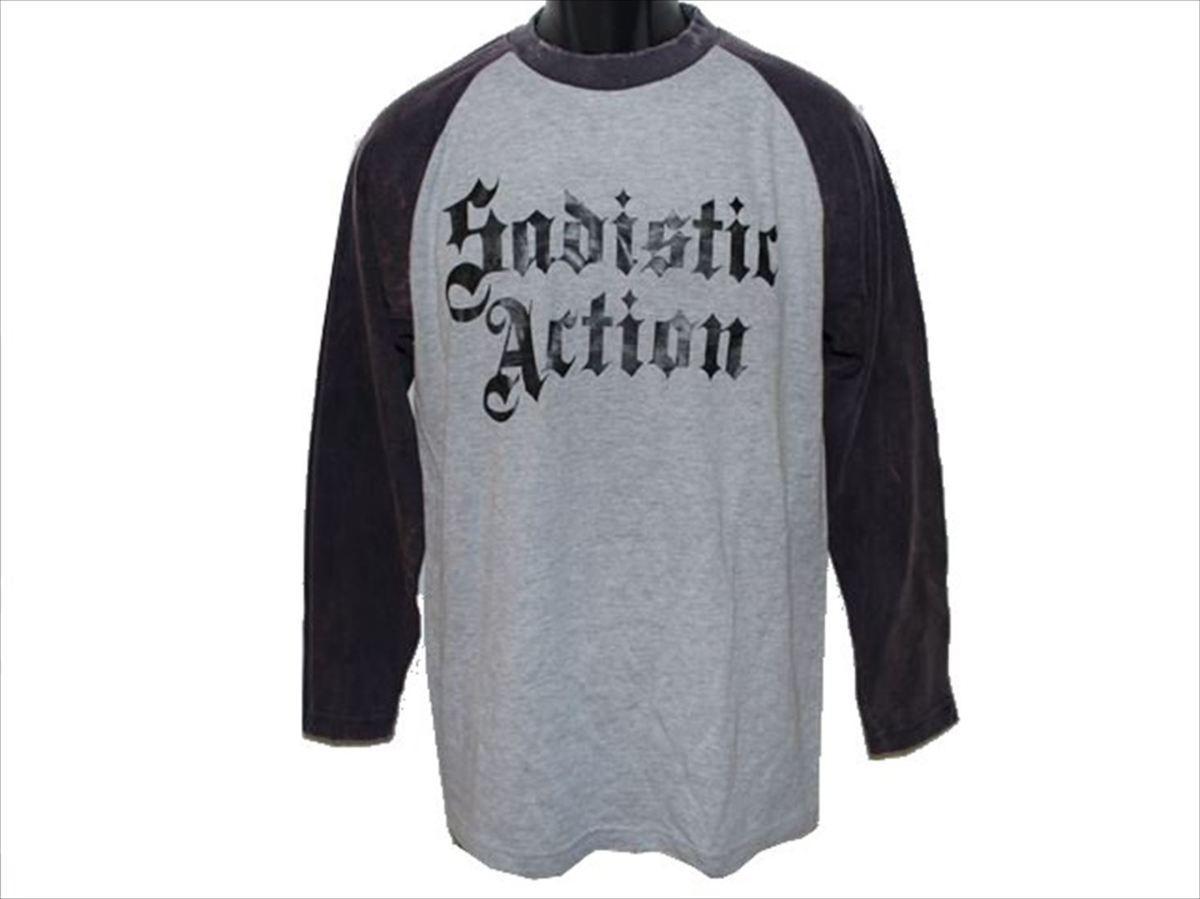 サディスティックアクション SADISTIC ACTION メンズ長袖Tシャツ Mサイズ NO21 新品_画像1