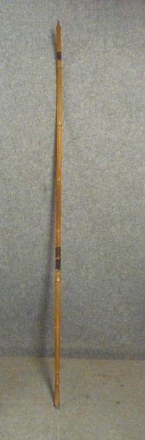 15124 古い竹弓 【文】 銘有り 日高亀太郎? 弓道 竹製 弓 アンティーク_画像1