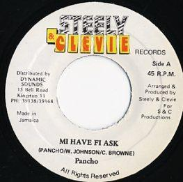 EP☆Pancho / Mi Have Fi Ask / Steely&Clevie Records_2905-031