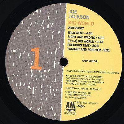 帯付2LP/Joe Jackson/ビッグ・ワールド/Big World/AMP-5007_画像3