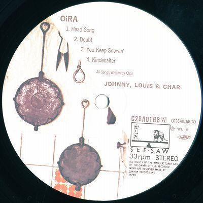 LP/JOHNNY,LOUIS & CHAR/Oi RA/C28A-0166_画像3