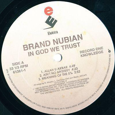 LP/BRAND NUBIAN/IN GOD WE TRUST/ELEKTRA_画像3