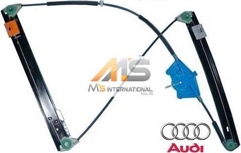 【M's】アウディ A4 S4 RS4(2001y-2008y)純正品 ウインドーレギュレーター(左前)//AUDI 8E B6 B7 ウィンドーレギュレター 8E0-837-461C_画像1