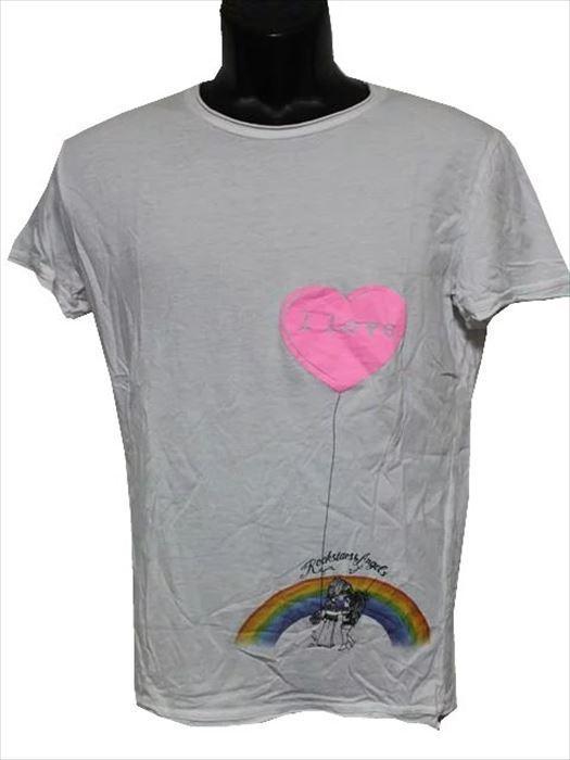 ロックスターズエンジェルス ROCKSTARS&ANGELS メンズ半袖Tシャツ ホワイト Sサイズ 新品_画像1
