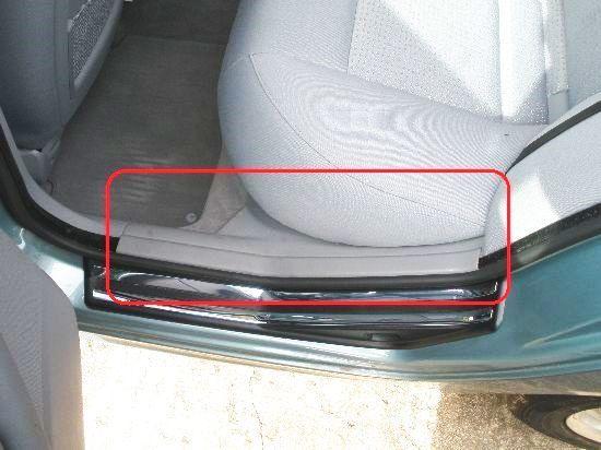 BMWセダンE46リア320i左318iインナースカッフプレート323iサイドステップカバー325iリヤ328i330iドアシルパネル51478193791ツーリングAV22_画像2