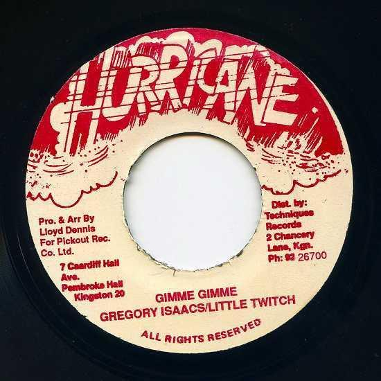 EP☆Gregory Isaacs / Little Twitch / Gimme Gimme / Hurricane_画像2