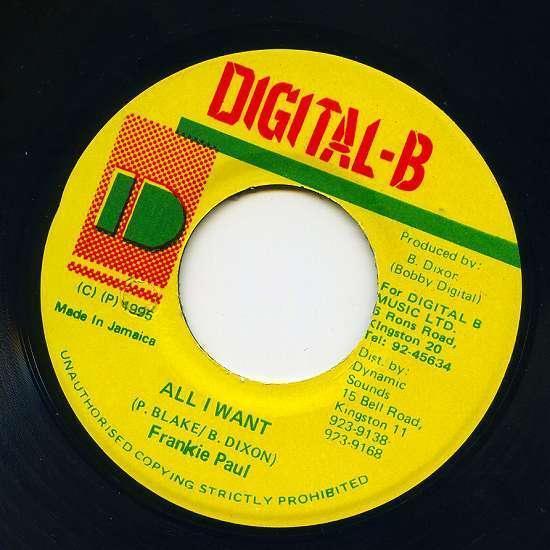 EP☆Frankie Paul / All I Want / Digital-B_画像2