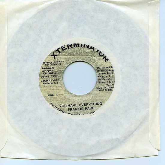 EP☆Frankie Paul / You Have Everything / Xterminator_2900-065