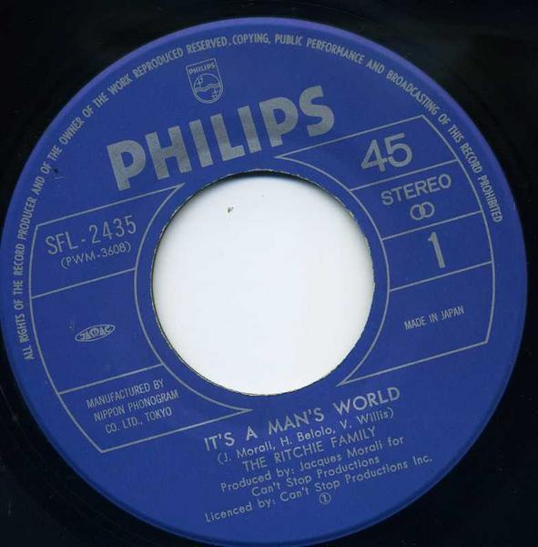 EP☆RITCHIE FAMILY /it's a man's world /SFL-2435_画像3