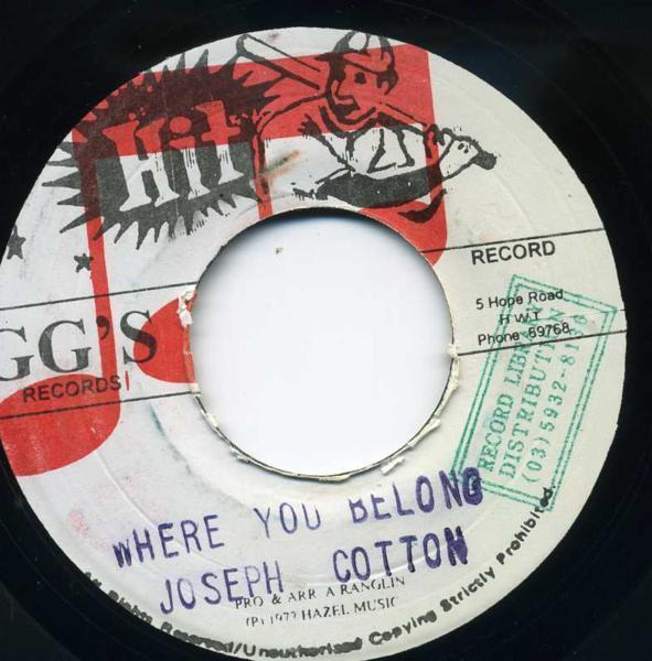 EP☆Joseph Cotton / Where You Belong / GG'S RECORDS_2911-008