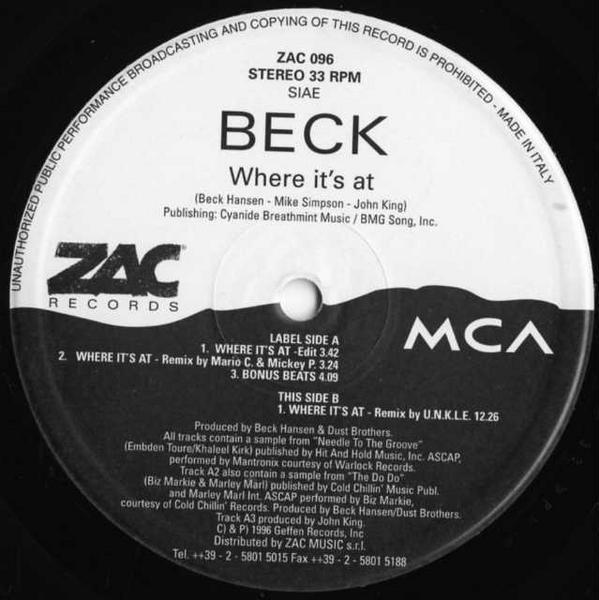 12inch / Beck / Where It's At / ZAC 096_1013-083