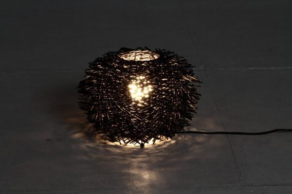 ◆新品◆ ラタン ラウンド ランプ 照明  アウトレットA9207_画像7