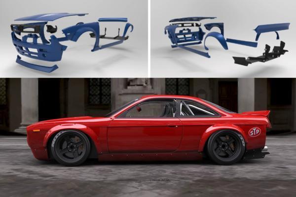 S14シルビア ベースset フェイスチェンジ+サイド+Rフェンダー ロケバニV2_画像2