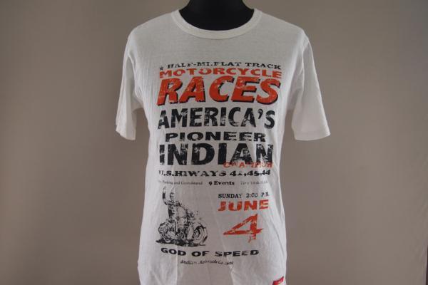 インディアンモーターサイクル★半袖Tシャツ★ロゴ★プリント★刺繍★Mサイズ★Indian Motorcycle_画像3