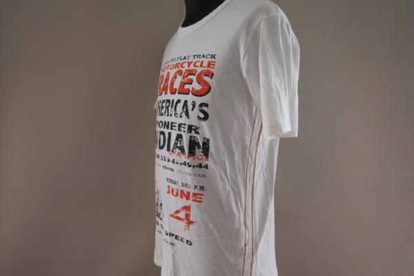 インディアンモーターサイクル★半袖Tシャツ★ロゴ★プリント★刺繍★Mサイズ★Indian Motorcycle_画像4