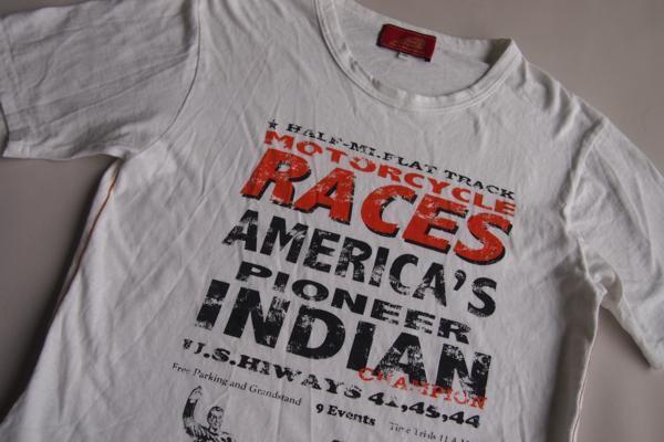 インディアンモーターサイクル★半袖Tシャツ★ロゴ★プリント★刺繍★Mサイズ★Indian Motorcycle_画像7