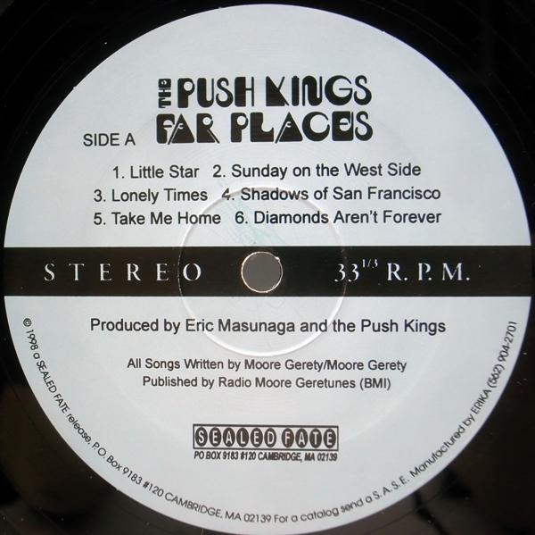 良好品!! 稀少アナログ USオリジナル PUSH KINGS Far Places ('98 Sealed Fate) プッシュ・キングス LP 米 INDIE ROCK_画像3