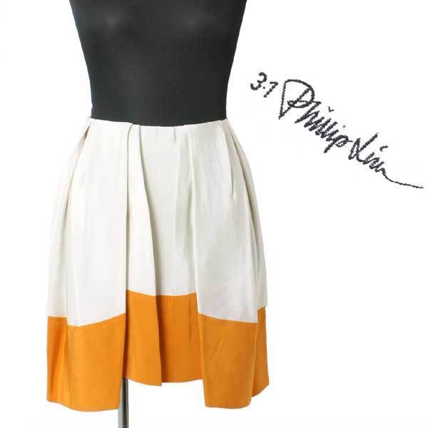 4bc722af1b 【SALE】新品 定価51,840円 3.1 Phillip Lim pleated umbrella skirt バイカラースカート