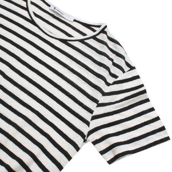 T by ALEXANDER WANG リネン シルク ニット カットソー sizeXS ブラック ホワイト ティー バイ アレキサンダーワン Tシャツ_画像4