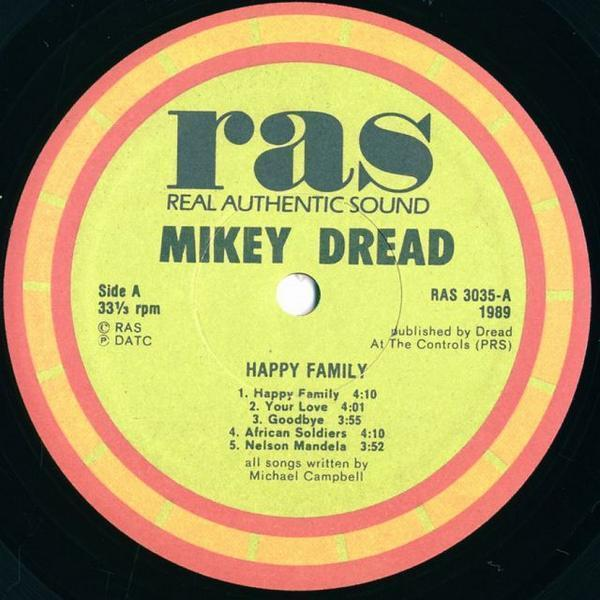 LP / Mikey dread / Happy Family / RAS Records Inc / RAS-3035_画像3