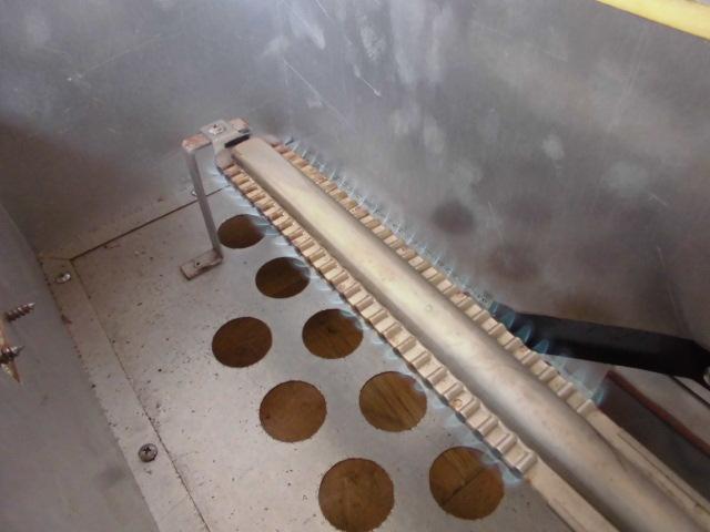 中古厨房 未使用品 サンウェーブ 卓上 2口コンロ+グリドル LPガス 圧電式 GK-75H W750×D600×H280mm 取説付 B 鉄板 プロパン_画像8