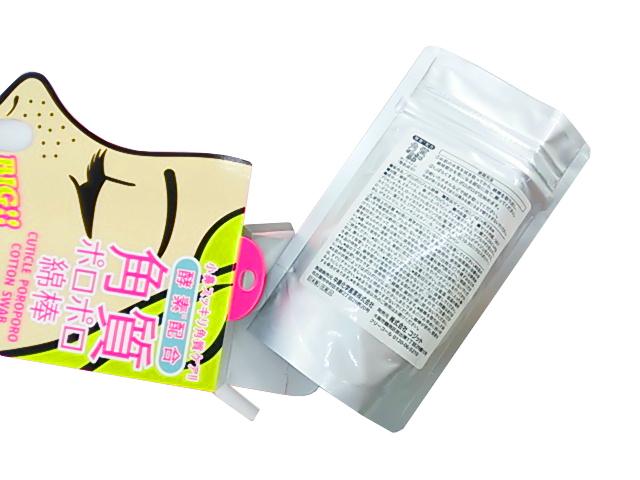 E922◆訳あり 角質ポロポロ綿棒 酵素配合 日本製 3個組 送料200円_画像2