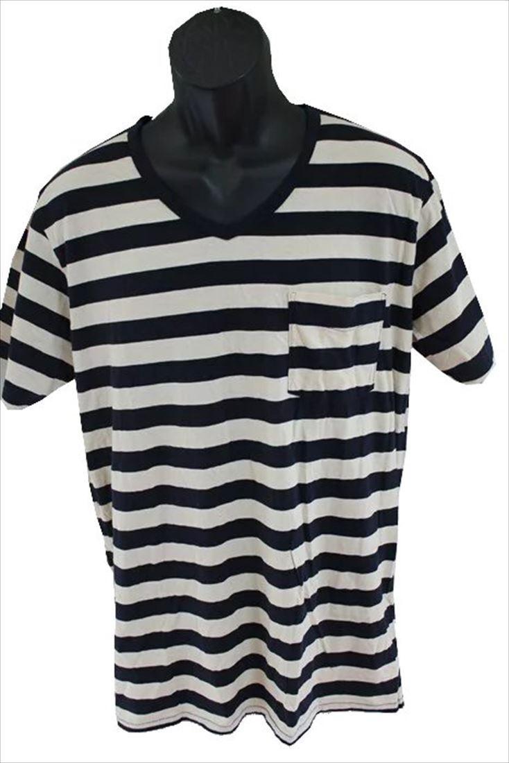 ゼインローブ ZANEROBE メンズ半袖Tシャツ ボーダー柄 Lサイズ 新品_画像1