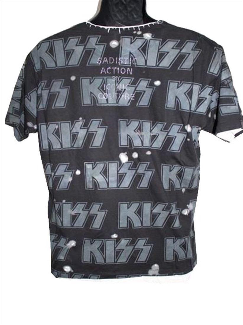 サディスティックアクション SADISTIC ACTION アイコニック メンズ半袖Tシャツ Sサイズ KISS 新品_画像2