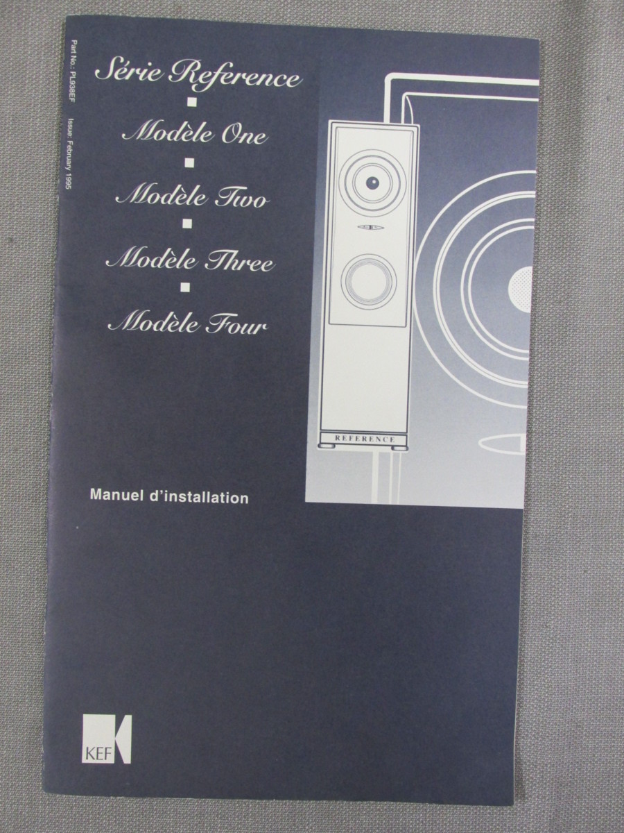 S0269【取扱説明書】KEF Reference Siries Model One/Model Two/Model Three/Model Four Installation Manual 英文他_画像2