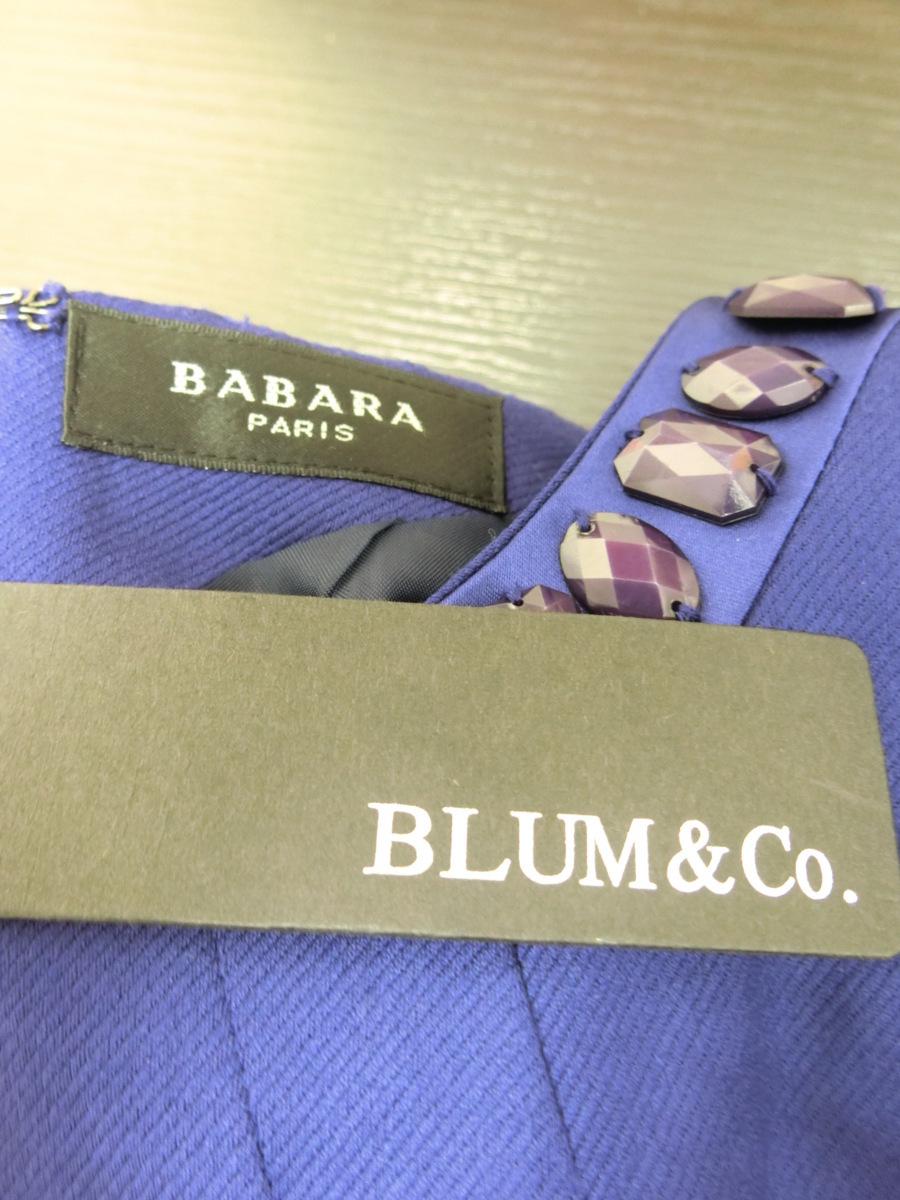 イタリア製 BABARA PARIS ビジュー ビーズ ベルト デザイン ワンピース 40 パープル 紫 レディース HR1809-231_画像5