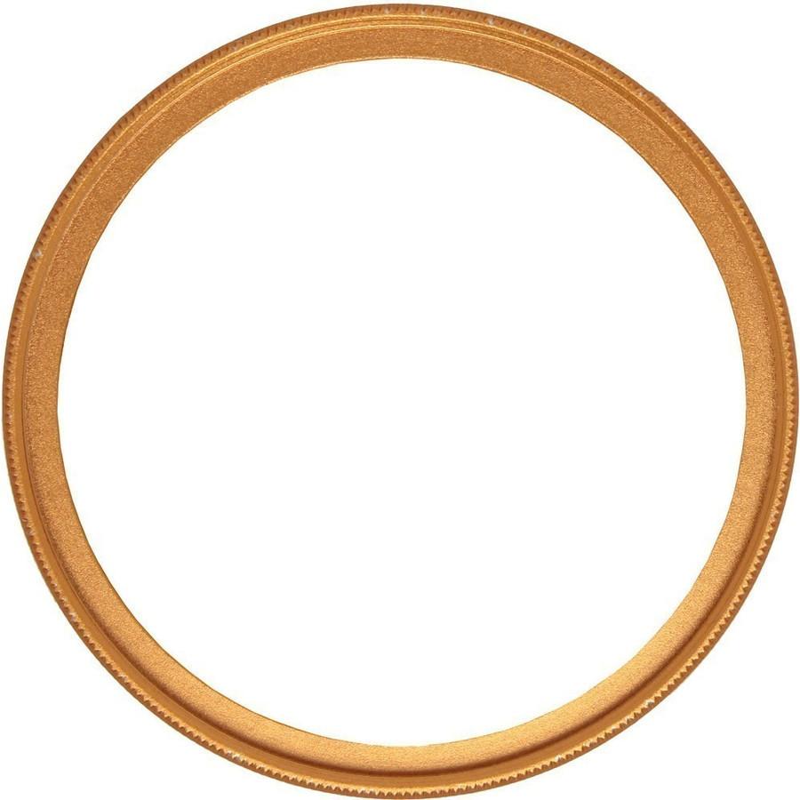 【フィルター径:49mm】UVフィルター ゴールド 枠 金 カメラレンズ保護 フィルターをはめてレンズキャップの取り付けok レンズプロテクト_画像1