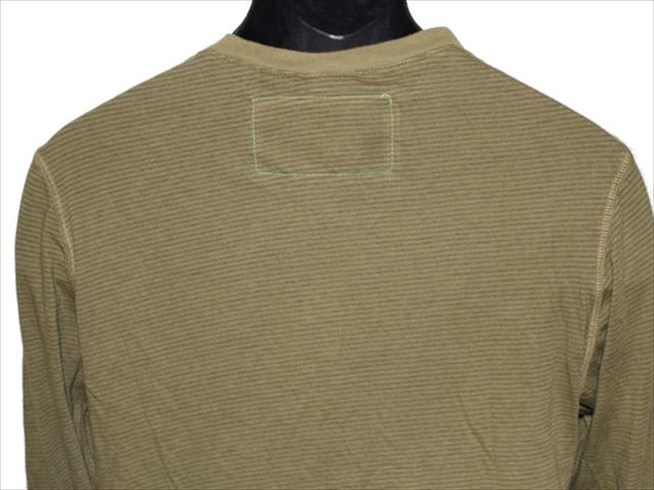ホゼル HOZELL メンズ長袖ヘンリーTシャツ グリーン Mサイズ 新品_画像4
