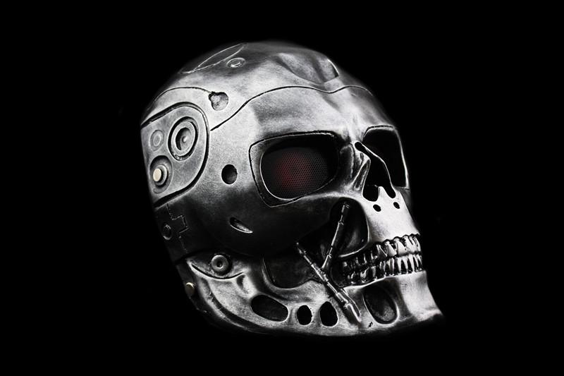 新品 仮面 コスプレ マスク ハロウィンCOSPLAY用品 仮装パーティ 変装 halloween The Terminatorターミネーター グレー_画像1